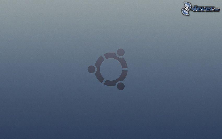 Ubuntu, szürke háttér
