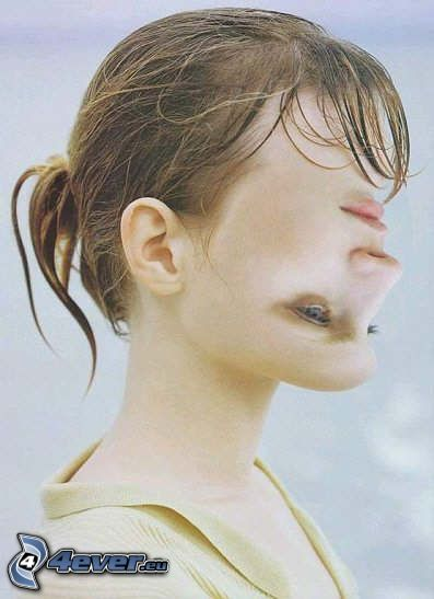 arc, megfordítva