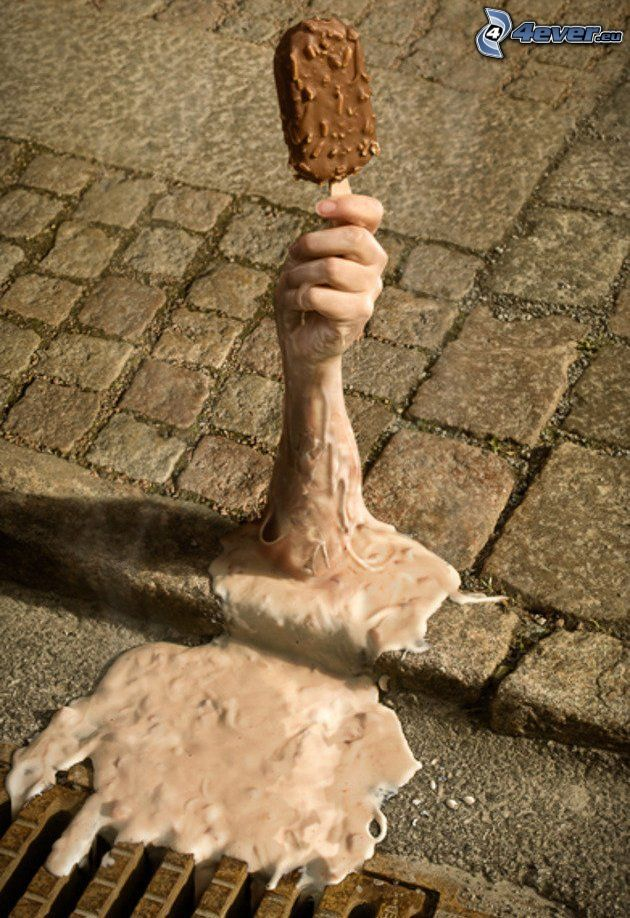 jégkrém, kéz