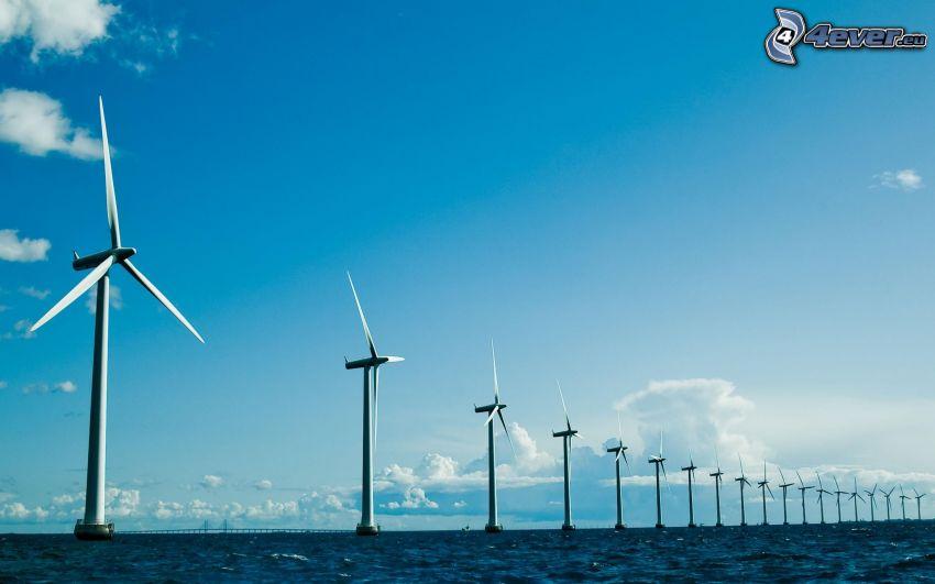 szélerőművek, tenger