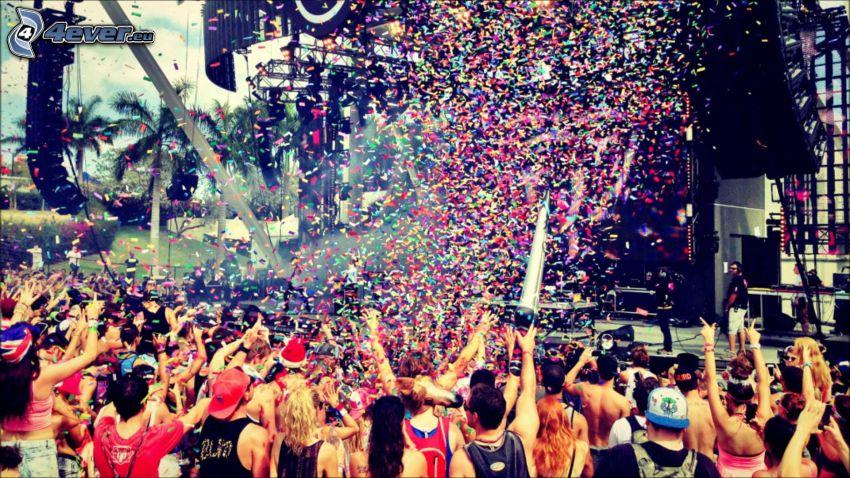koncert, rajongók