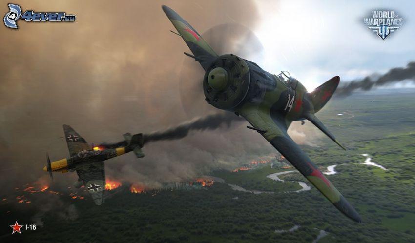 World of warplanes, vadászrepülőgépek
