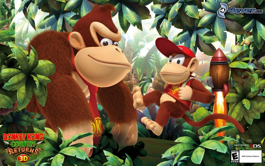 Donkey Kong Country Returns, gorillák