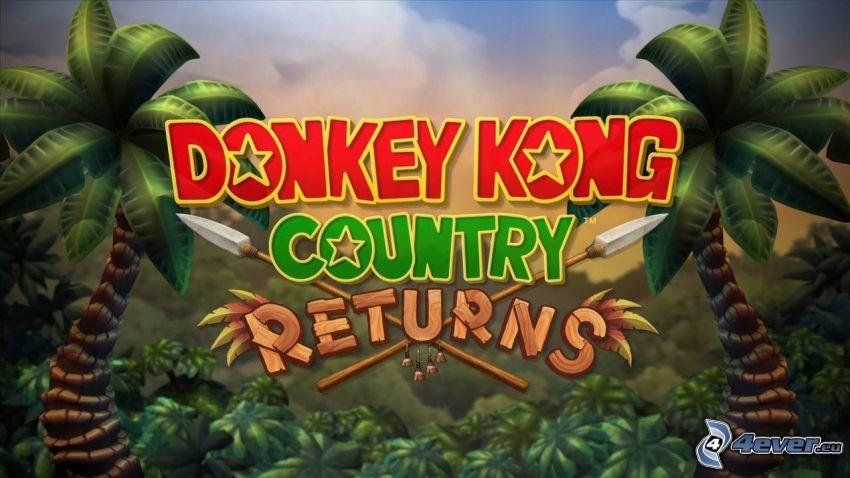 Donkey Kong Country Returns, pálmafák