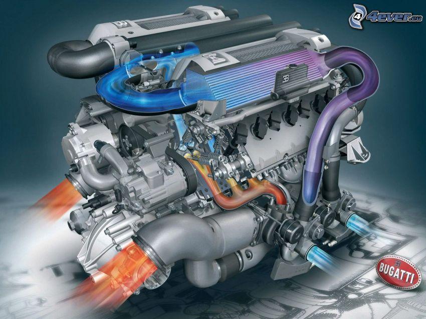 motor, Bugatti