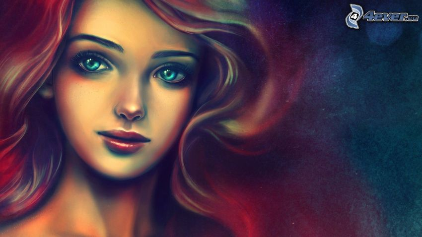 rajzolt nő, arc