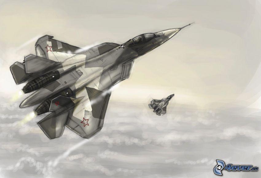 Sukhoi T-50 PAK FA, vadászrepülőgépek