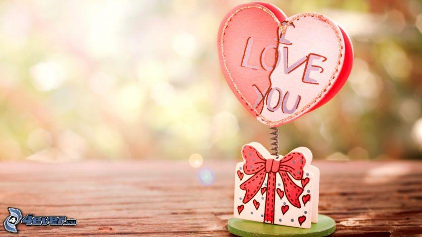 I love you, ajándék, szivecske