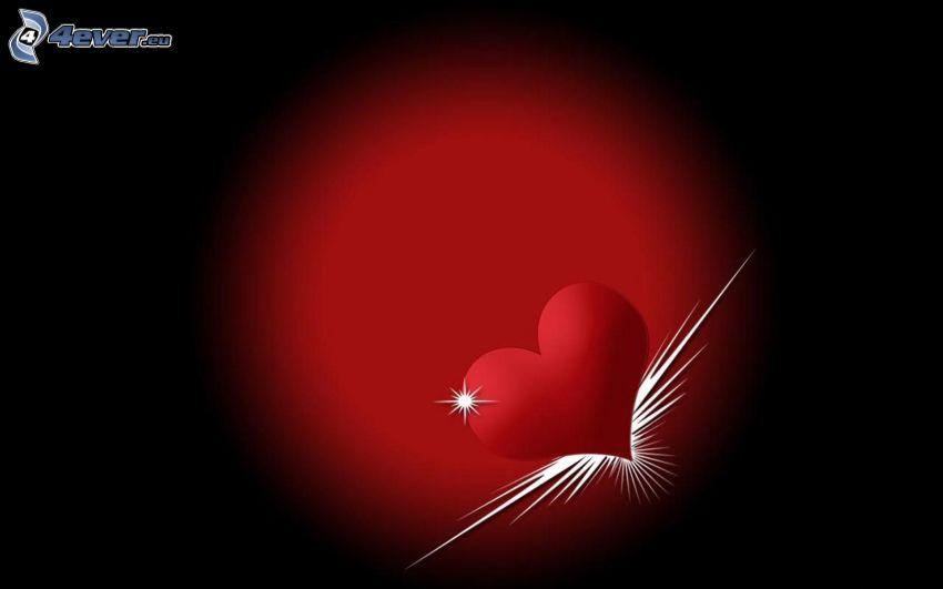 piros szív, kör