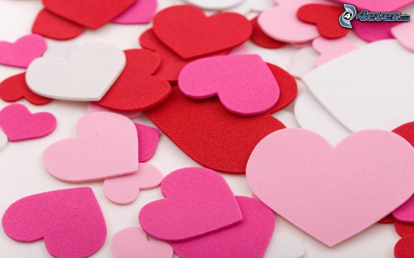 piros szívek