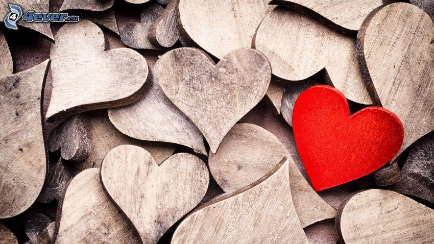 szivecskék, piros szív