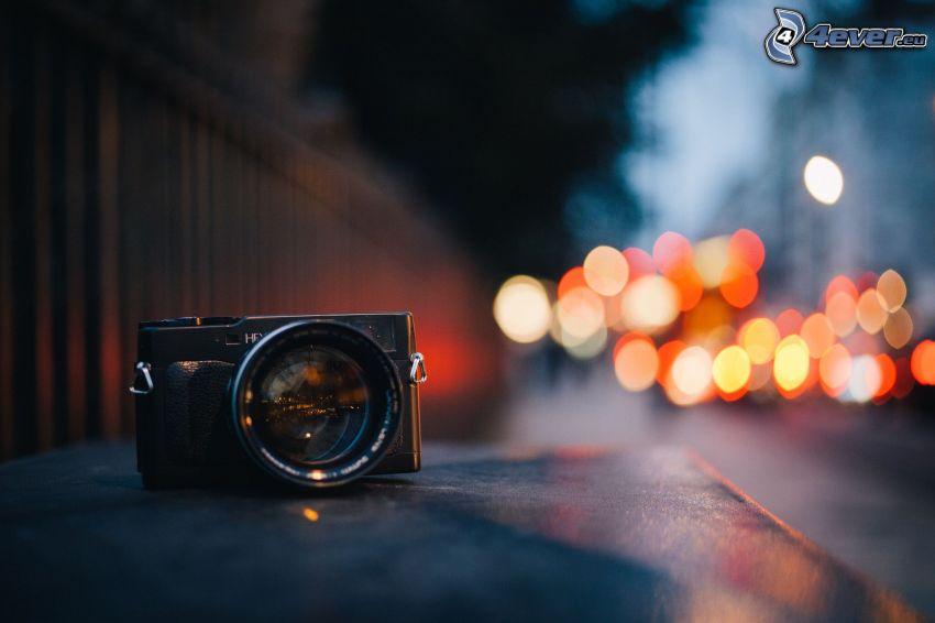 fényképezőgép, éjszakai város
