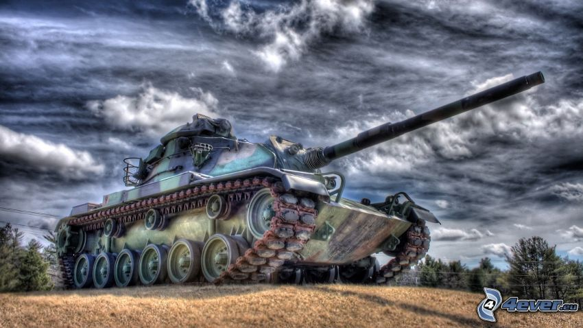 T-34, tank, HDR