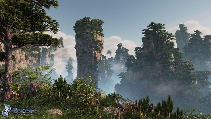Huangshan, sziklás hegységek