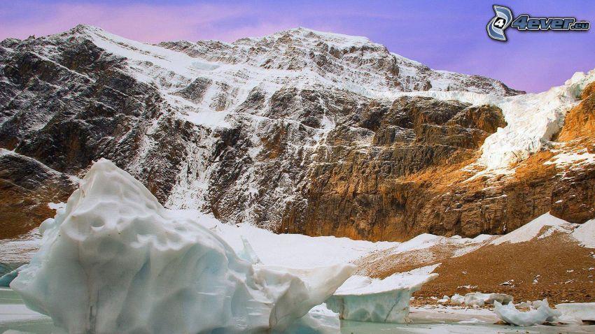 sziklás hegységek, hó