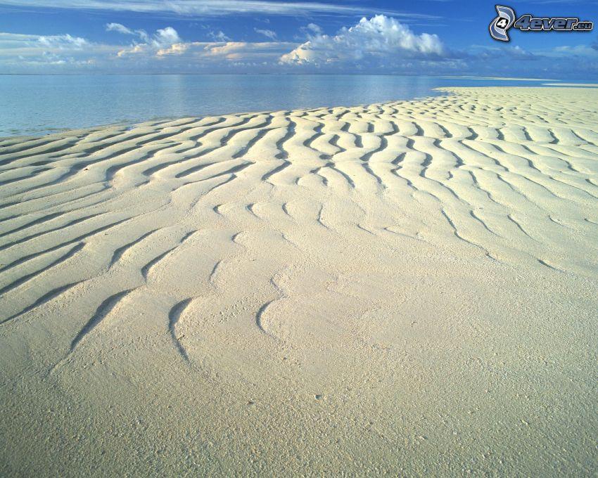 homokdűnék a tengerparton, tenger
