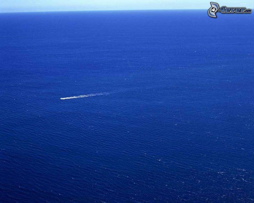 jacht, nyílt tenger, óceán
