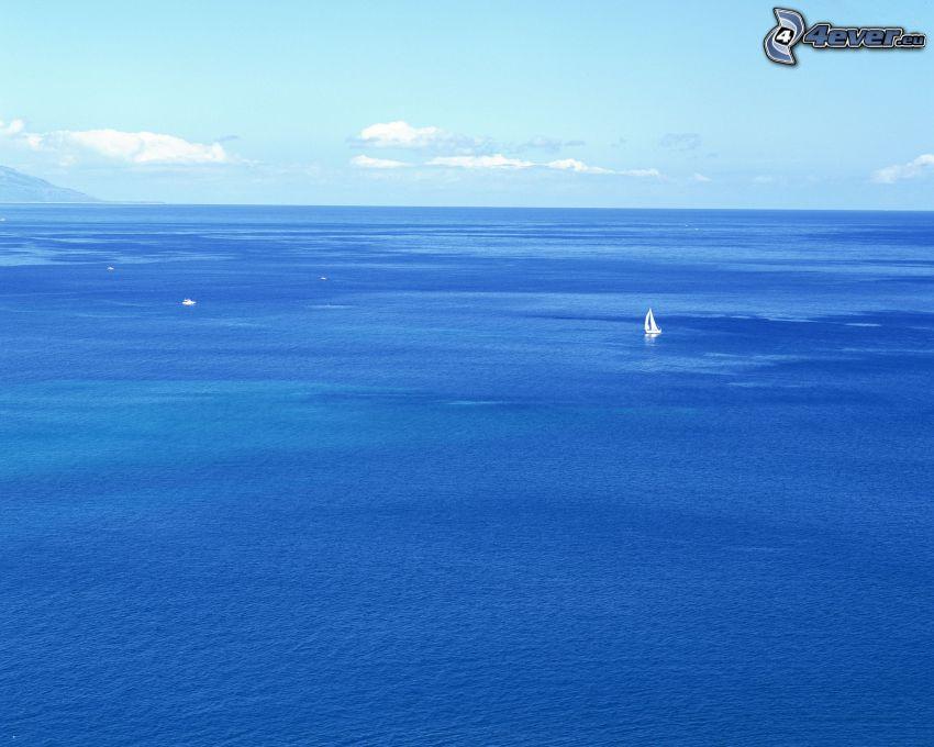 nyílt tenger, óceán, jacht