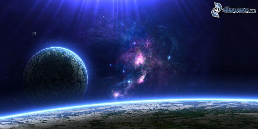 bolygók, ködfátylak