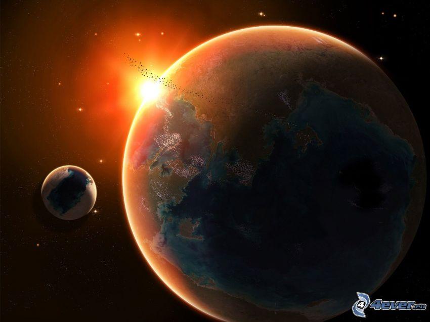 csillag a bolygó mögött