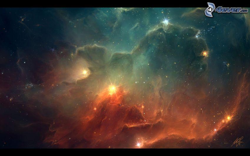 csillagok, ködfátylak