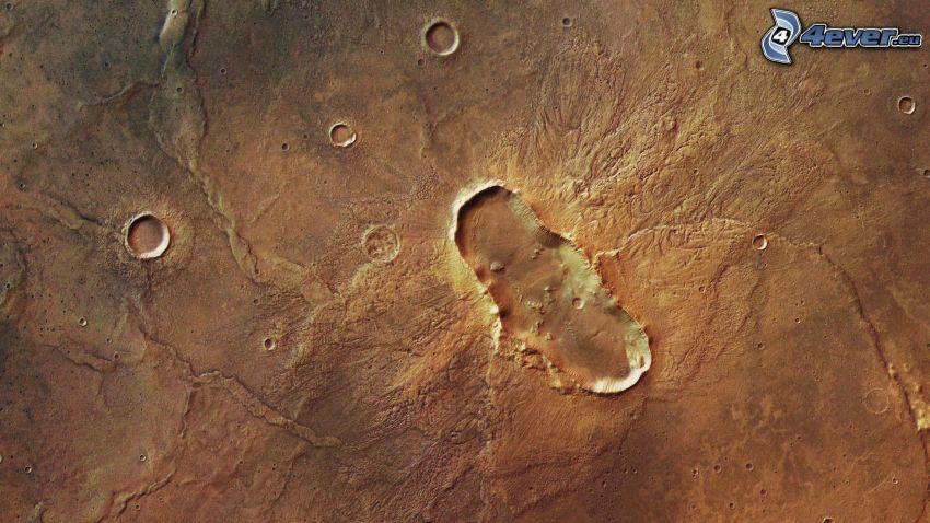 kráter, Mars