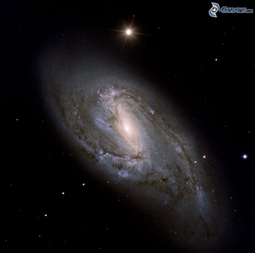 M66, spirálgalaxis, csillagok