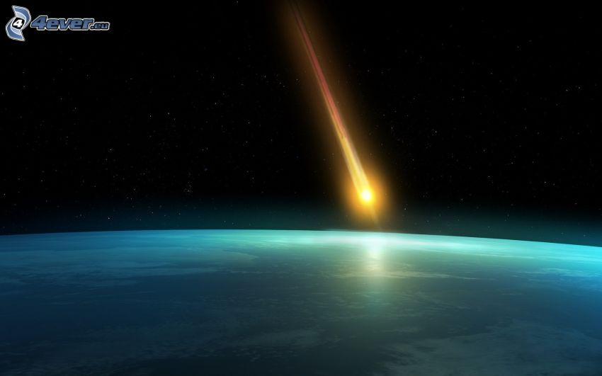 üstökös, Föld az ISS-ről