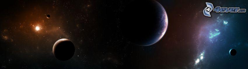 világegyetem, bolygók, panoráma