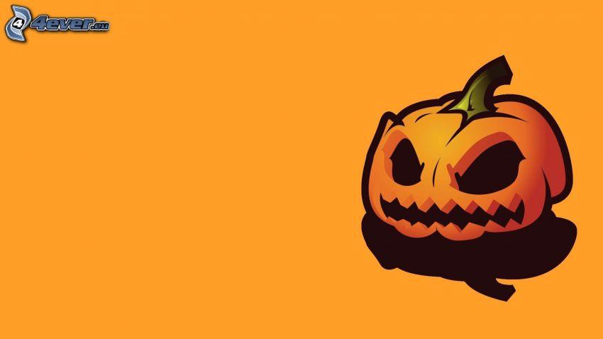 halloweeni töklámpás, rajzolt