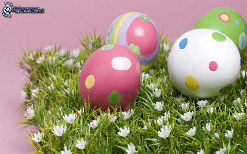 húsvéti tojások, virágok