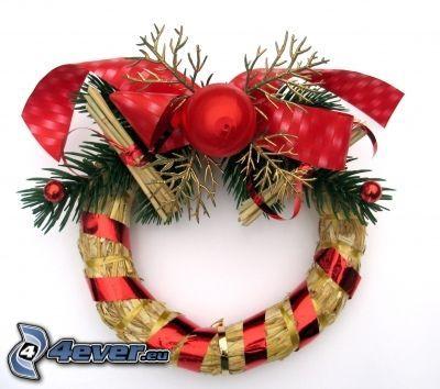 koszorú, karácsonyi dekoráció