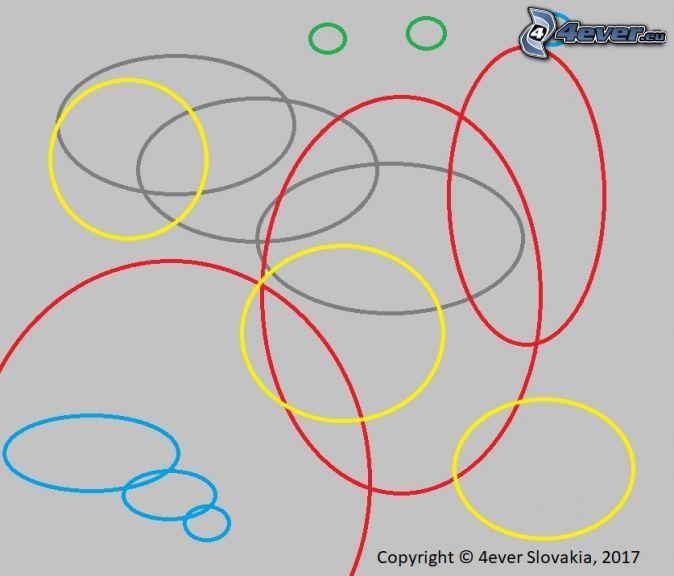 abstrakcyjne koła, obraz