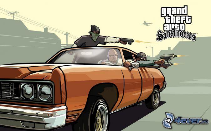 GTA San Andreas, strzelanie