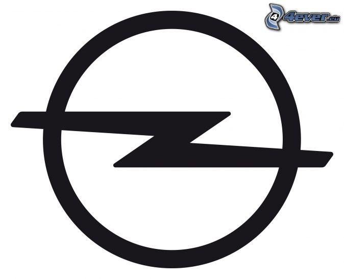 Opel, czarno-białe