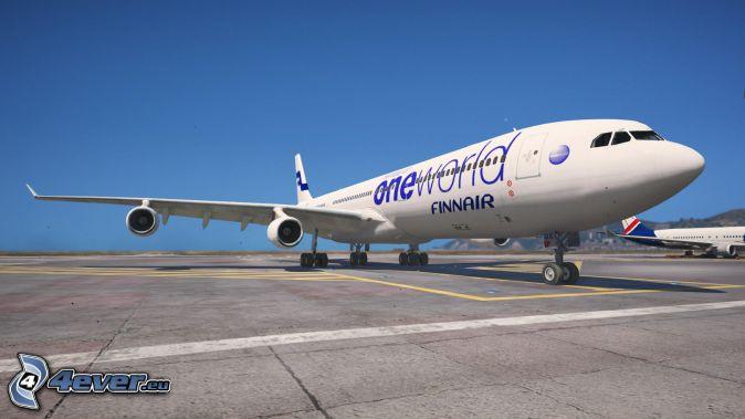 Airbus A340, lotnisko