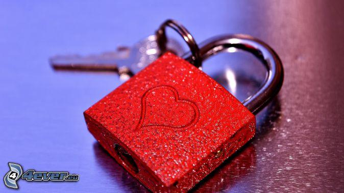 zamek, serce, klucz
