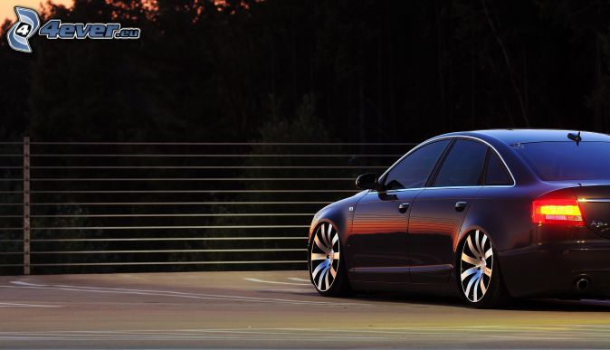 Audi S6, poręcz, tylne światła