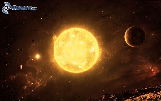 słońce, planety, wszechświat