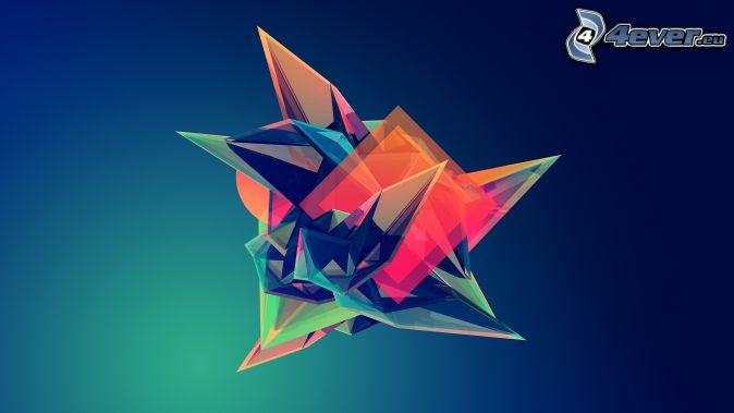 diament, kolory, abstrakcyjne