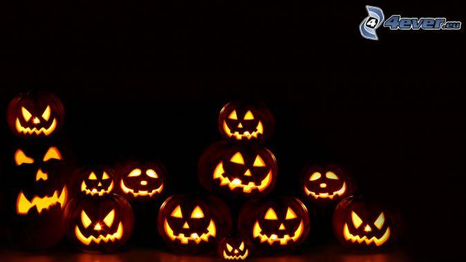 halloween dynie, ciemność