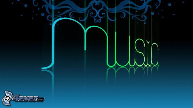music, niebieskie tło