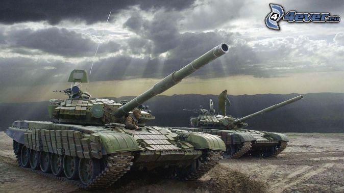 T-90, czołgi, promienie słoneczne