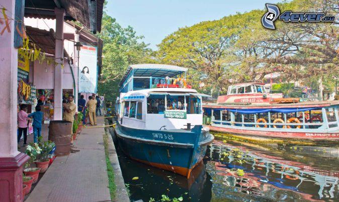 łódź, turystyczna, port