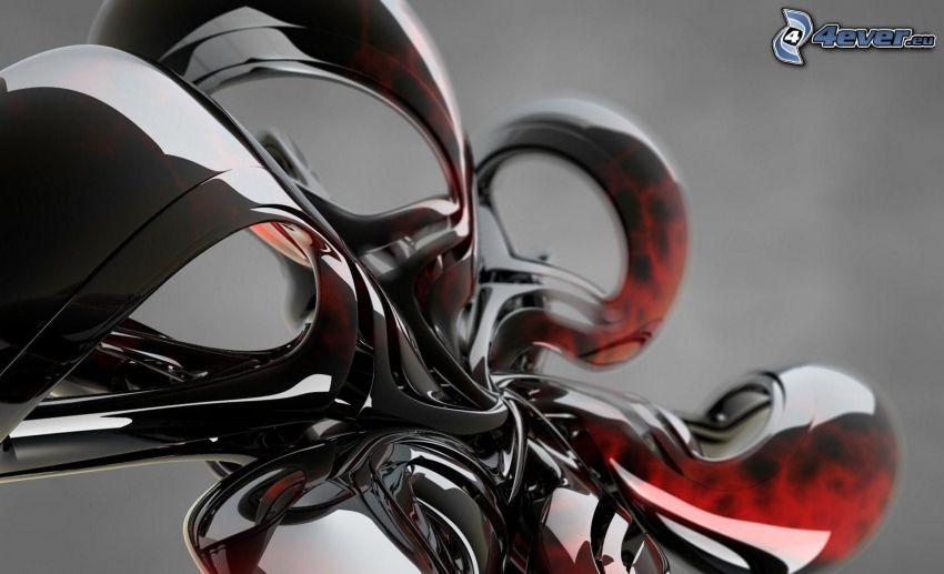 abstrakcyjne, szkło