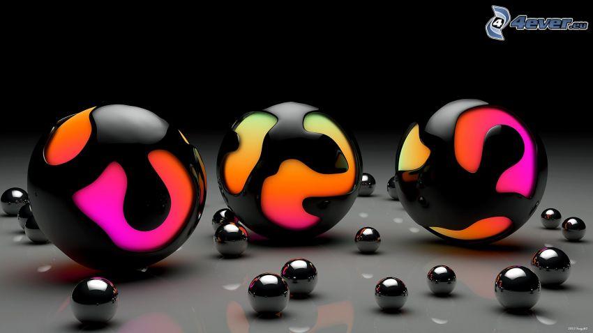 abstrakcyjne kulki