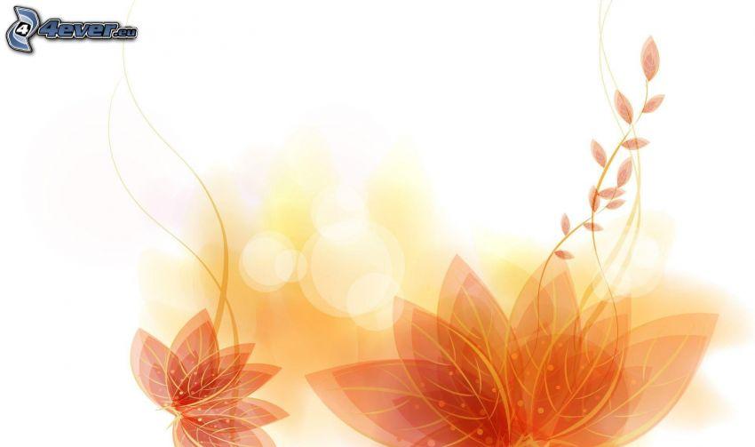 abstrakcyjne kwiaty