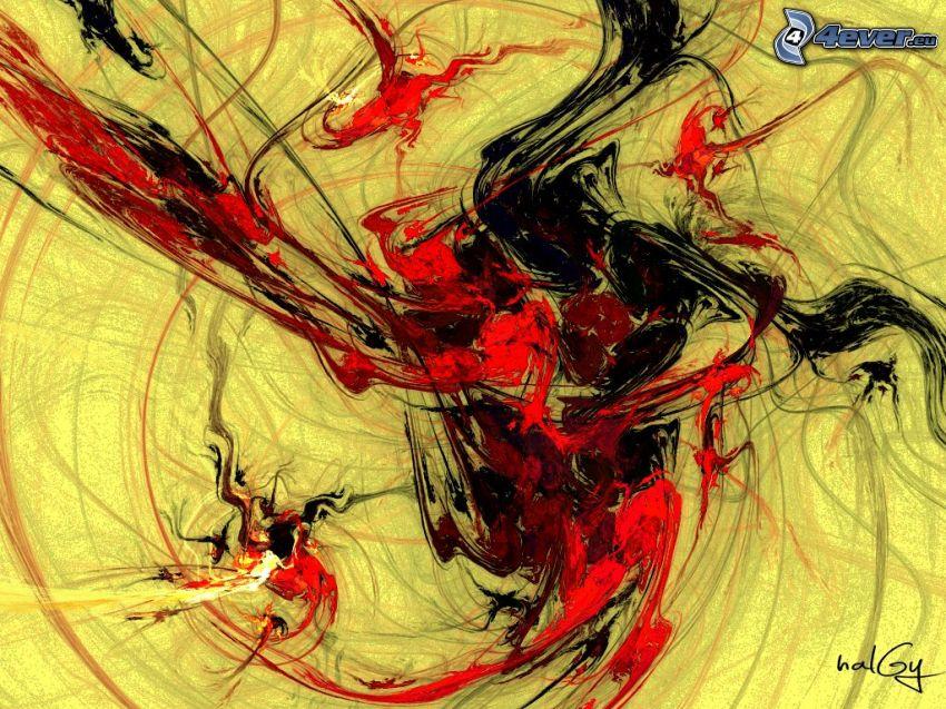 abstrakcyjne linie, kleks