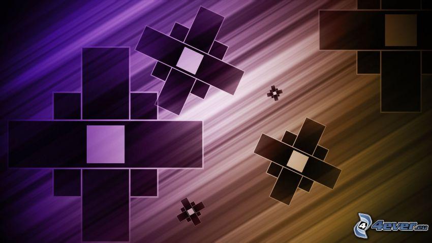 abstrakcyjne prostokąty, linie