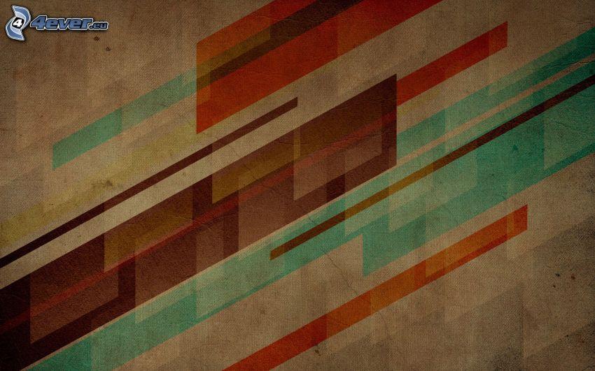 abstrakcyjne prostokąty, ściana